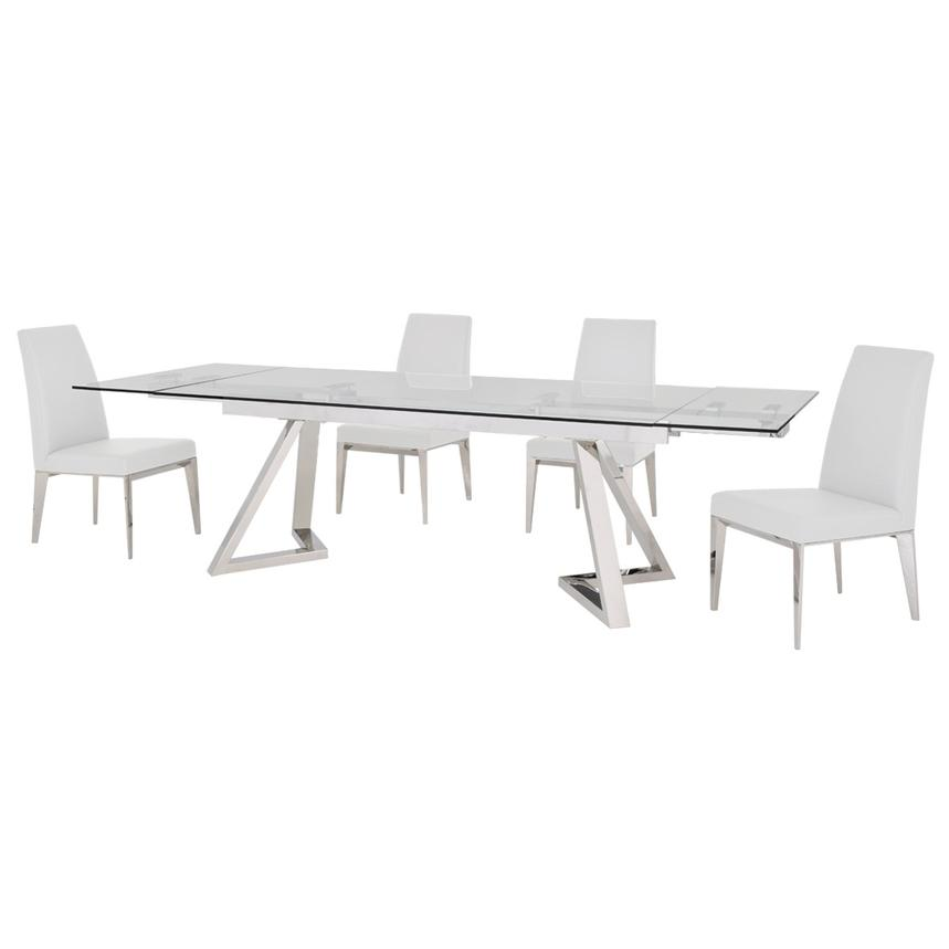 Suri White 5-Piece Formal Dining Set  alternate image, 2 of 11 images.