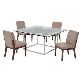 Utica/Suria Taupe 5-Piece Casual Dining Set