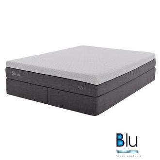 Loft 1.0 King Memory Foam Mattress w/Low Foundation By Blu Sleep Products