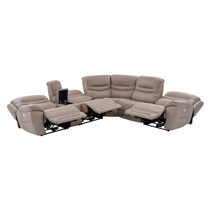 Dan Tan Motion Sofa W Right Left Recliners Alternate Image 2 Of