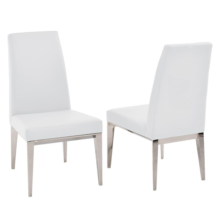 Suri White 5-Piece Formal Dining Set  alternate image, 8 of 12 images.