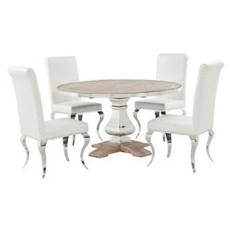 Attirant Wilma/Lizbon 5 Piece Formal Dining Set