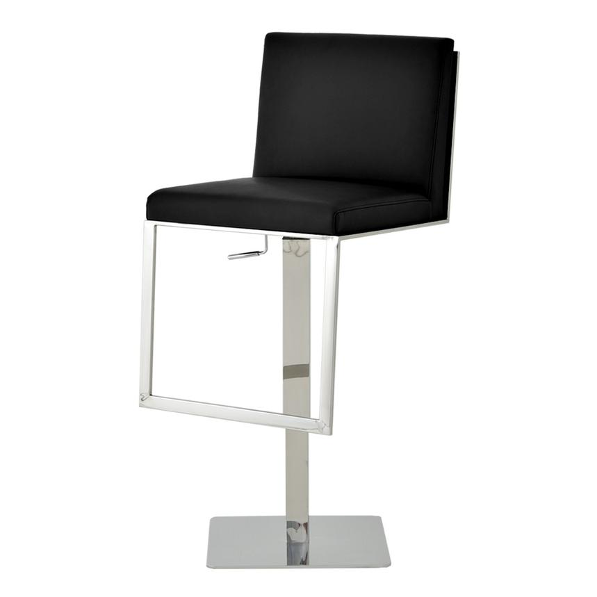 Aventura Black Adjustable Stool  alternate image, 2 of 6 images.