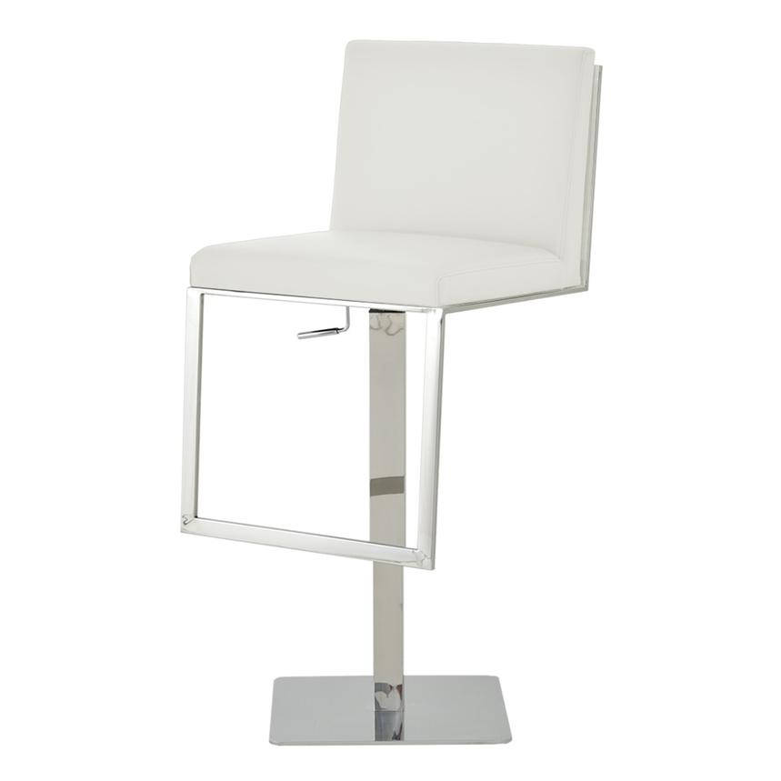 Aventura White Adjustable Stool  alternate image, 2 of 5 images.