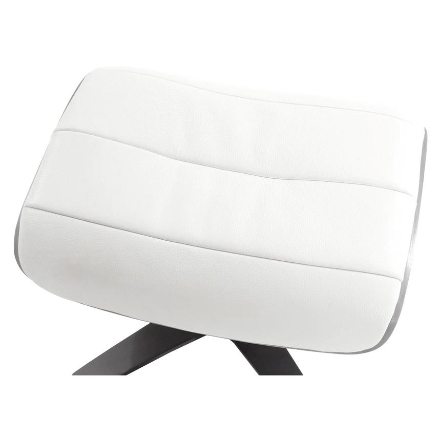 Enzo Pure White Leather Ottoman  alternate image, 3 of 5 images.