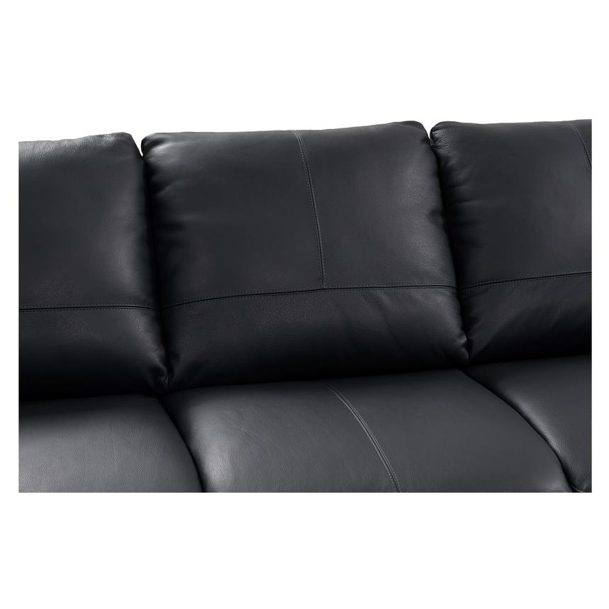 Rio Dark Gray Leather Sofa w/Right Chaise  alternate image, 3 of 8 images.