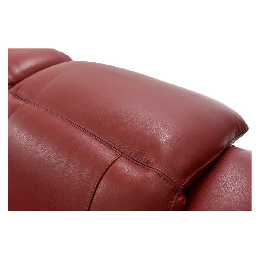 Davis Red Power Motion Leather Sofa w/Right & Left Recliners  alternate image, 7 of 12 images.