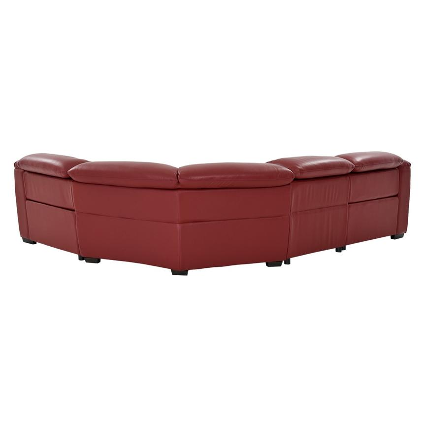 Davis Red Power Motion Leather Sofa w/Right & Left Recliners  alternate image, 3 of 11 images.