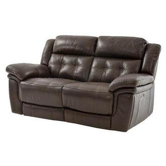Stallion Brown Power Motion Leather Loveseat