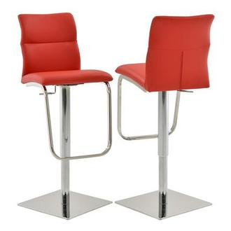 Colette Red Adjustable Stool