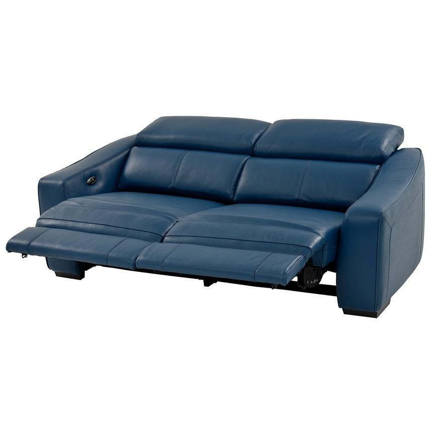 James Blue Power Motion Recliner Leather Sofa  alternate image, 2 of 10 images.