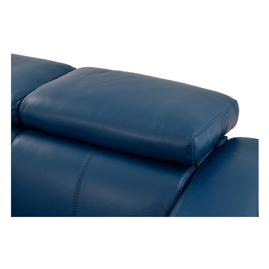 James Blue Power Motion Recliner Leather Sofa  alternate image, 7 of 10 images.
