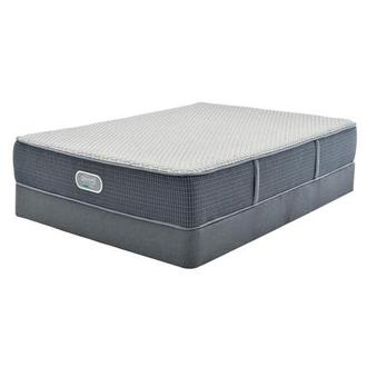 Marshall HB Queen Mattress w/Regular Foundation by Simmons Beautyrest Silver