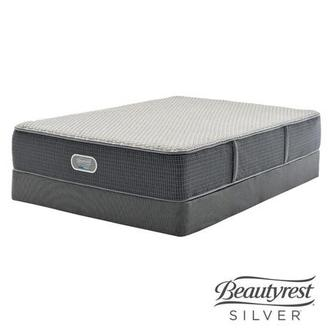 New London HB Queen Mattress w/Regular Foundation by Simmons Beautyrest Silver