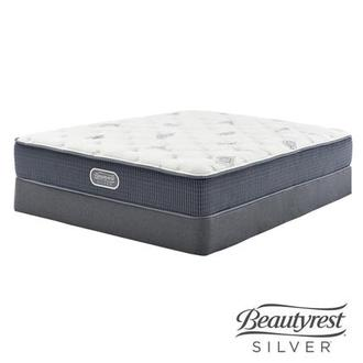 Ocean Springs Queen Mattress w/Regular Foundation by Simmons Beautyrest Silver