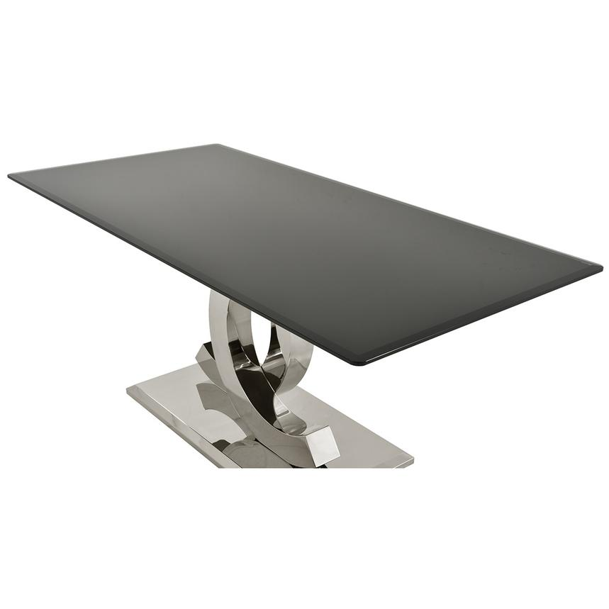 Otti Black Rectangular Dining Table  alternate image, 3 of 4 images.