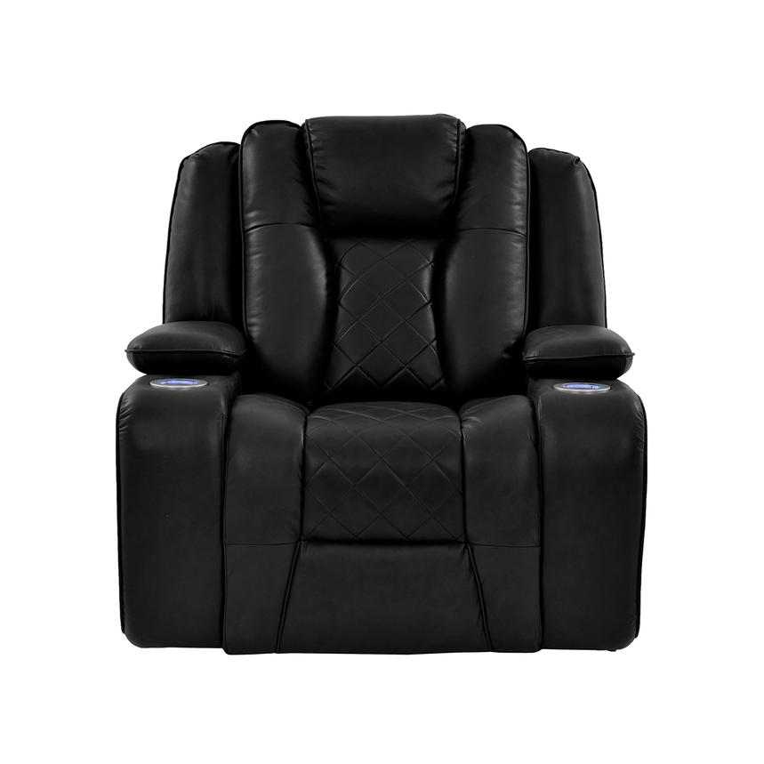 Chanel Black Power Motion Recliner El Dorado Furniture