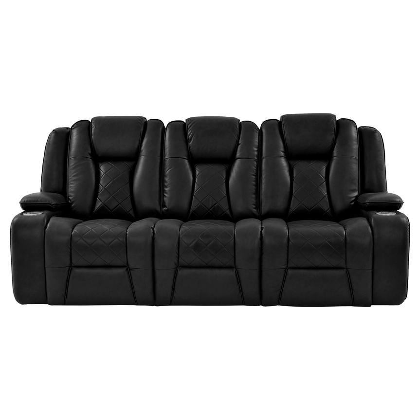 Chanel Black Power Motion Sofa  alternate image, 3 of 15 images.