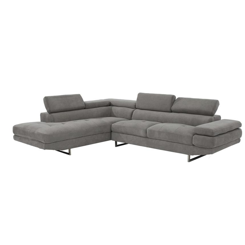 Taheri Gray Sofa W Left Chaise Alternate Image 2 Of 7 Images
