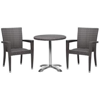 Gerald Neilina Gray 3 Piece Patio Set