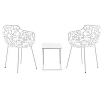 Mykonos Rosie White 3 Piece Patio Set
