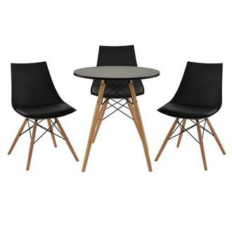 Annette Black 4-Piece Casual Dining Set
