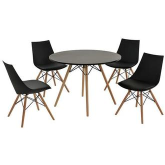 Annette Black 5-Piece Casual Dining Set