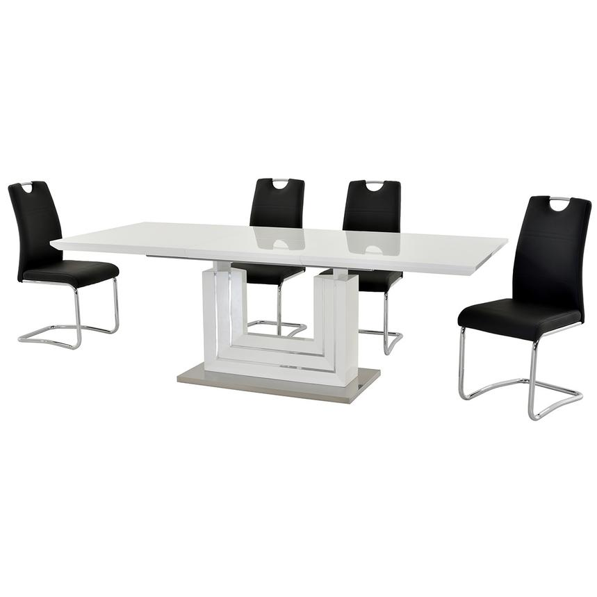 Lila Black 5 Piece Casual Dining Set Alternate Image, 2 Of 13 Images.