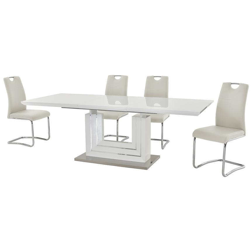 Lila White 5-Piece Casual Dining Set  alternate image, 2 of 13 images.