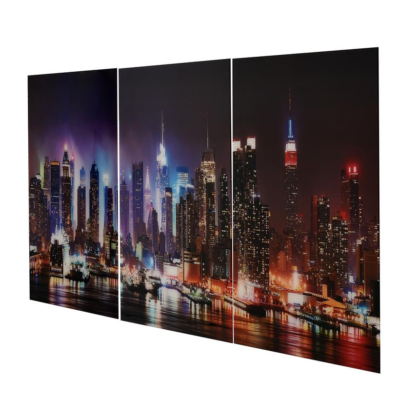 Skyline Set of 3 Acrylic Wall Art  alternate image, 3 of 4 images.