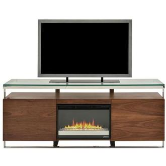Calypso Walnut Faux Fireplace w/Remote Control