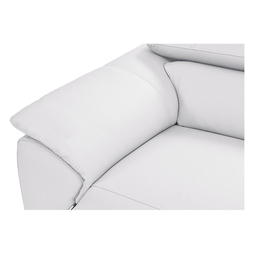 Tesla White Leather Sofa w/Right Chaise  alternate image, 3 of 8 images.