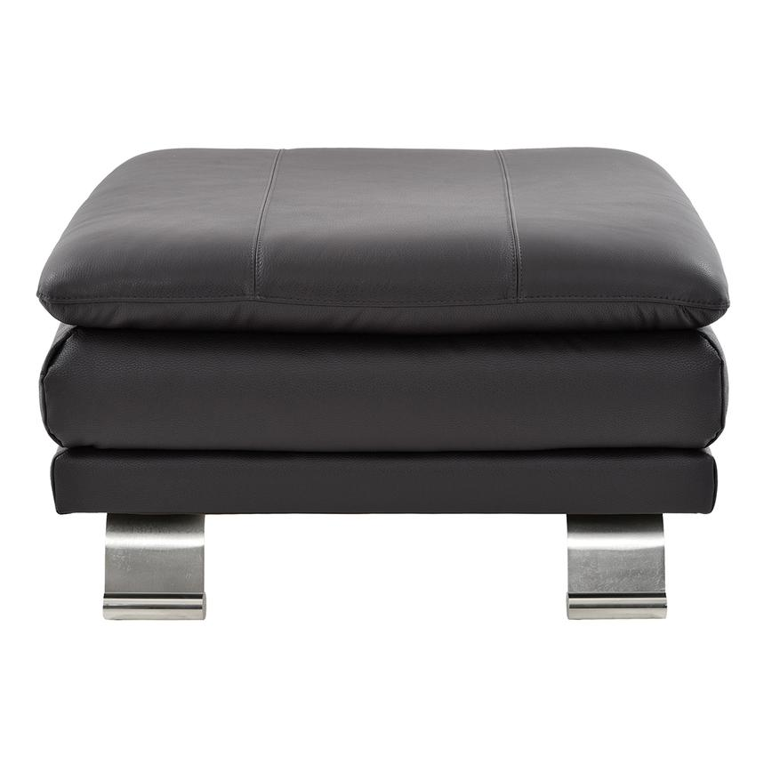 Rio Dark Gray Leather Ottoman  alternate image, 2 of 6 images.