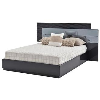 Manhattan Gray Mirrored Queen Platform Bed