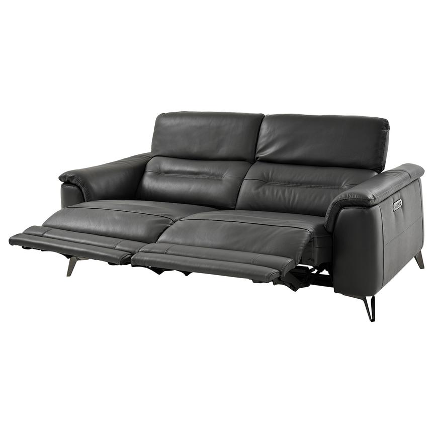 Anabel Gray Power Motion Leather Sofa  alternate image, 3 of 11 images.
