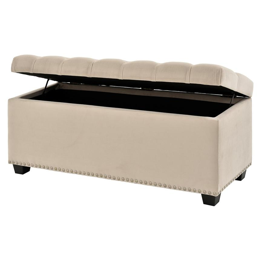 Majestic Beige Storage Bench  alternate image, 3 of 6 images.
