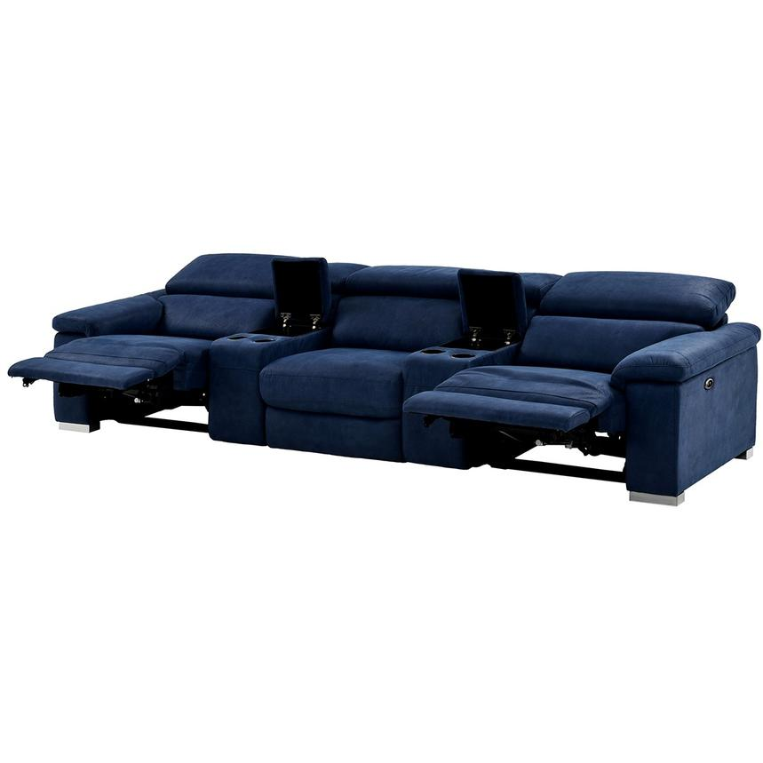 Kathan Blue Home Theater Seating El Dorado Furniture