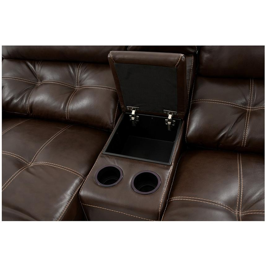 Stallion Brown Home Theater Leather Seating  alternate image, 8 of 9 images.
