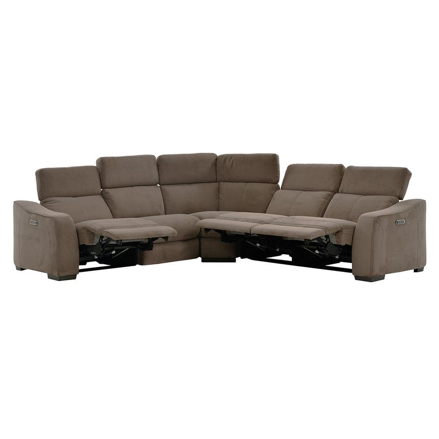 Jameson Brown Power Motion Sofa w/Right & Left Recliners  alternate image, 2 of 9 images.