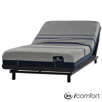 iComfort Blue Max 1000 Cushion Firm Queen Mattress w/Essentials III Powered Base by Serta
