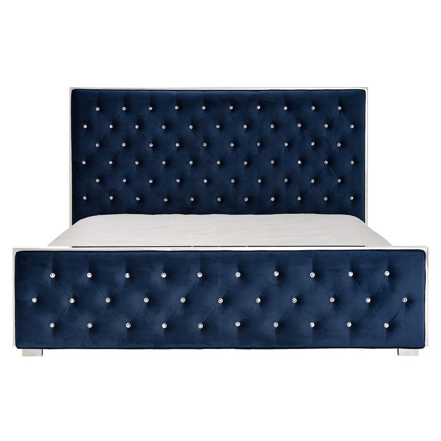 Orbit Blue Queen Panel Bed El Dorado Furniture