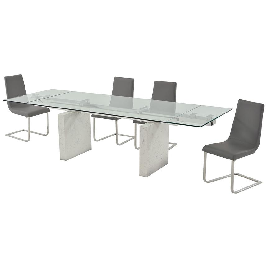 Industria/Lea Gray 5-Piece Formal Dining Set  alternate image, 2 of 13 images.