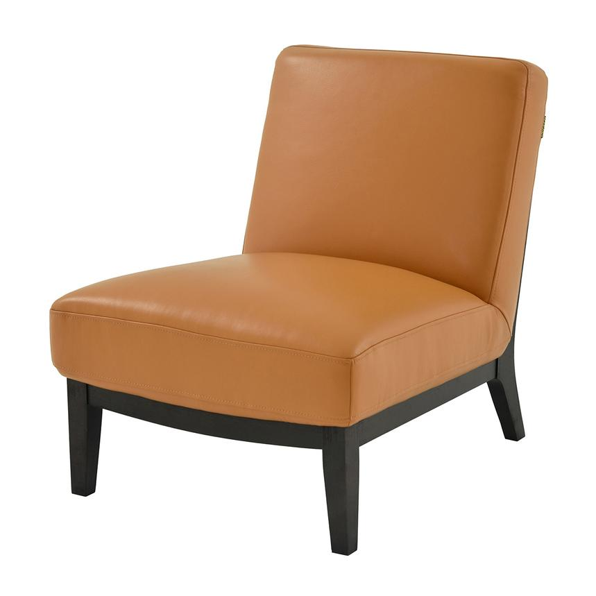 High Quality Nana Tan Leather Accent Chair Alternate Image, 2 Of 6 Images.