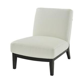 Nana White Leather Accent Chair