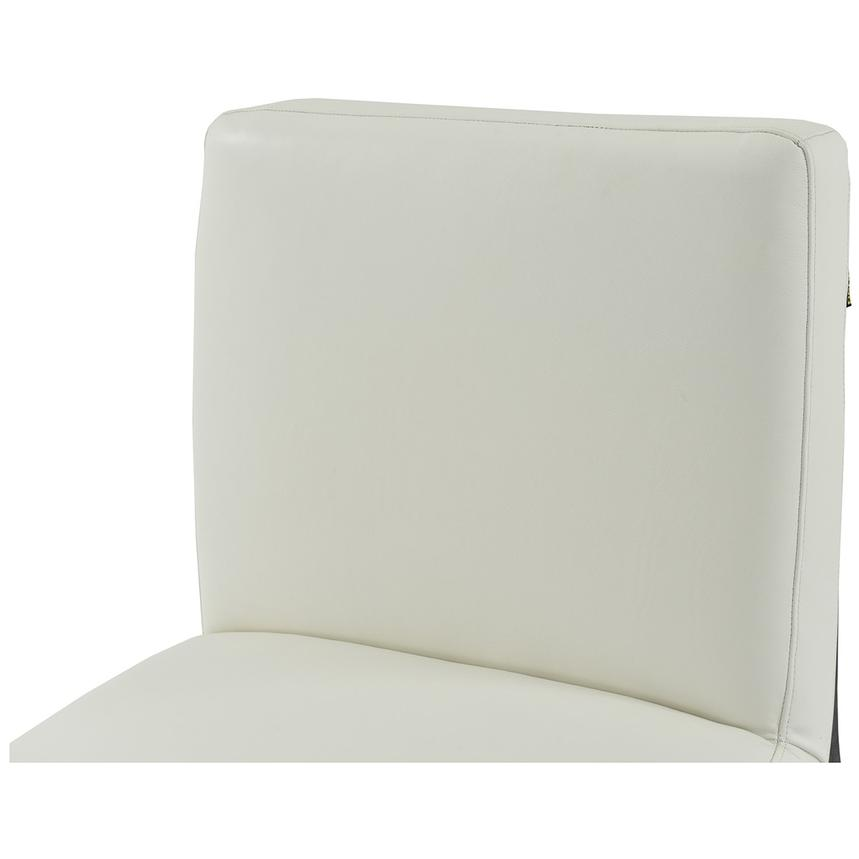Nana White Leather Accent Chair  alternate image, 3 of 6 images.