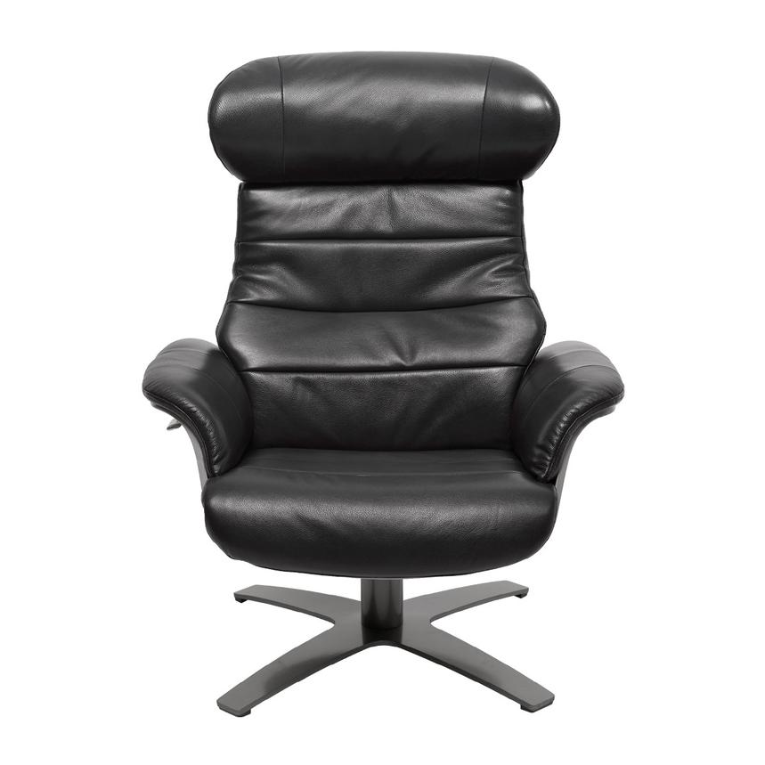 enzo black leather swivel chair el dorado furniture