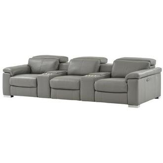 Charlie Gray Home Theater Leather Seating