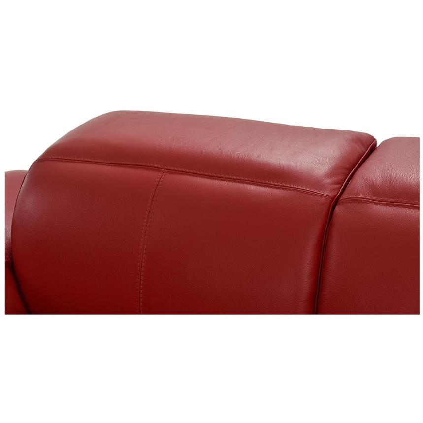 Toronto Red Power Motion Leather Sofa w/Right Chaise  alternate image, 8 of 12 images.