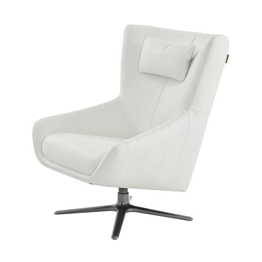 Clara White Leather Swivel Chair  alternate image, 2 of 5 images.