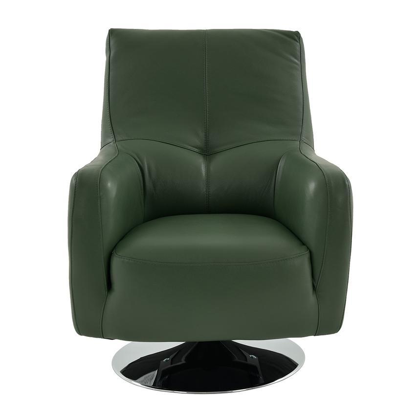 Verona Green Leather Swivel Chair El Dorado Furniture